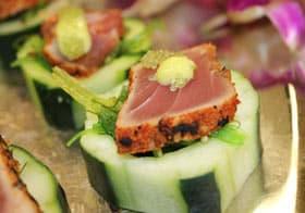 Black Pelican Catering tuna appetizer