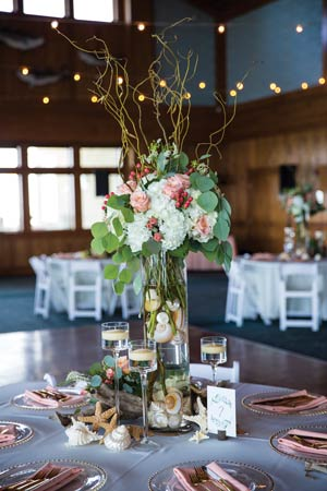 Outer Banks wedding decorations
