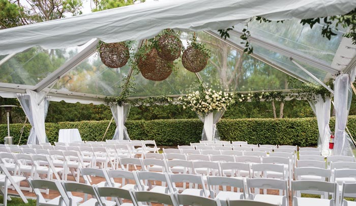 Outer Banks wedding tents