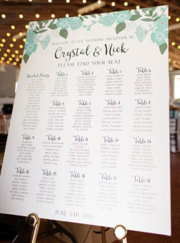 Wedding Planner seating