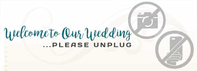 Unplugged weddings