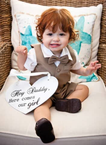 children in outer banks weddings