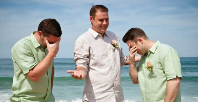 groomsmen beach