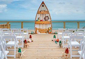 obx oceanfront deck wedding
