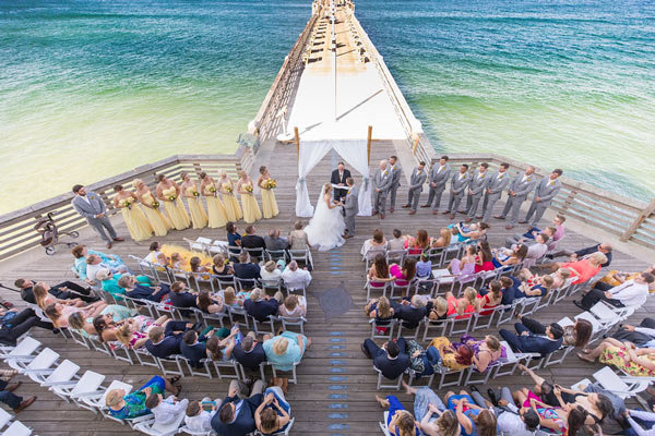 pier wedding ceremony